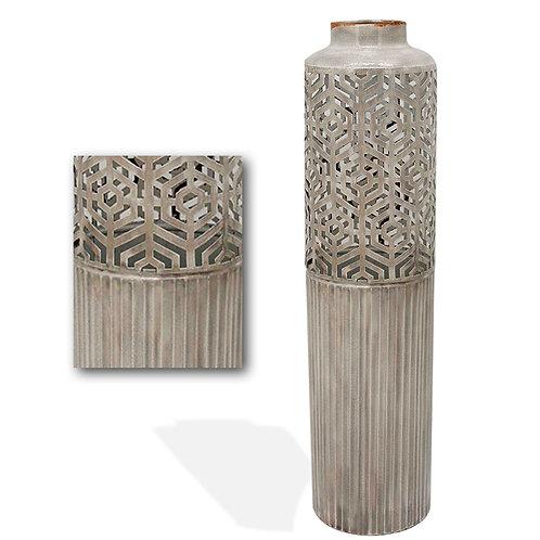 Metal Vase Cut Design - Large