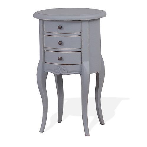 Bramble Drum Table Weathered Grey