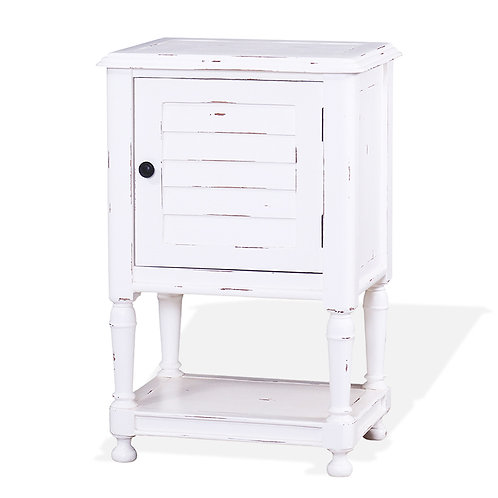 Bramble Orleans Shutter Nightstand Small - White Harvest