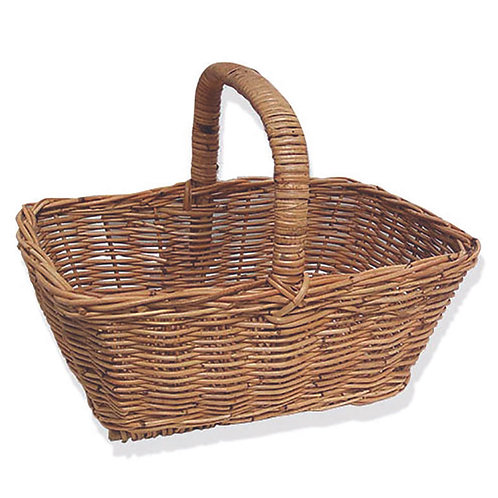 High Sided Rectangle Shopper Small Rattan