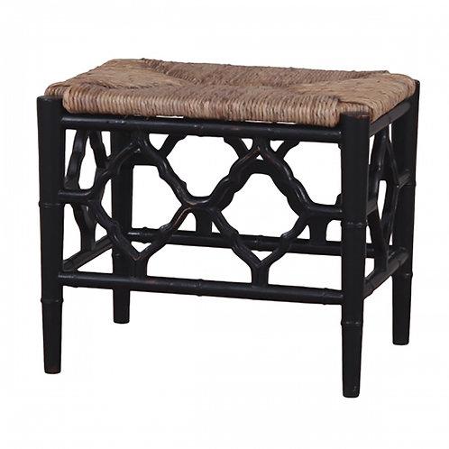 Bramble Chinois Footstool Black