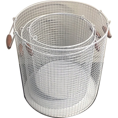 Wire Deep Baskets Set of 3 - White Large