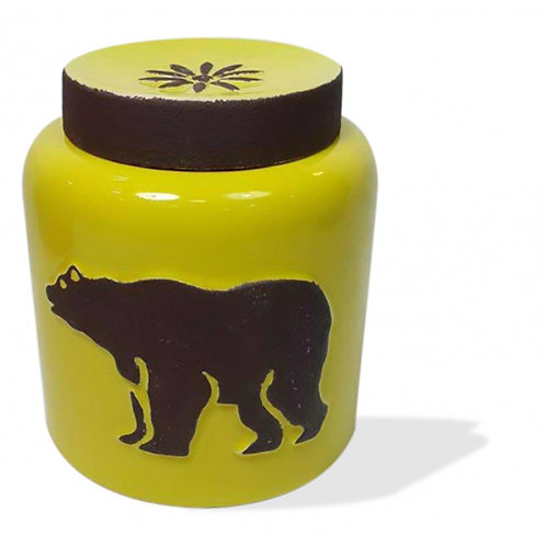 Ceramic Canister - Bear Yellow