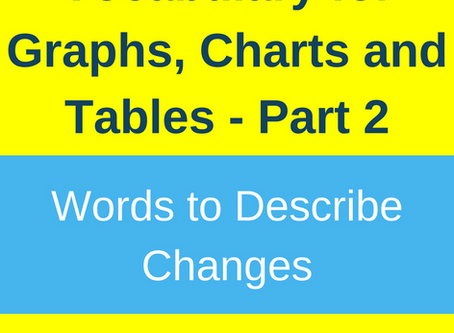 Vocabulary to Describe Changes