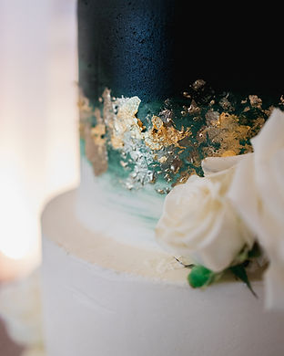 Emerald and Gold Wedding Cake.JPG