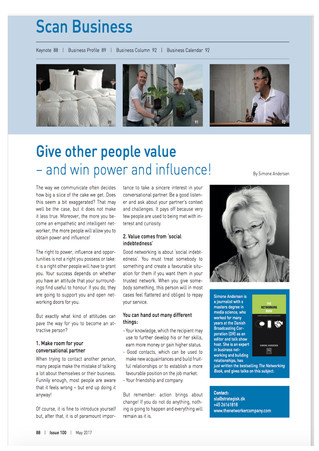 Scan Business: Give other people value - and win power and influence!
