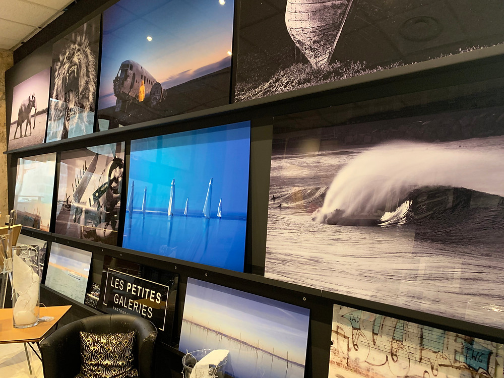 """Les photographies d'art de ma collection """"déco"""" disponibles dans les magasins """"L'éclat de verre""""."""