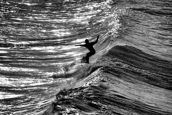 Photographie d'art I Photo d'art I Tableau photo I Tableau art I Surfer girl at sunset I Frédéric Ducos I Artiste photographe