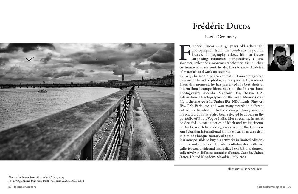 Frédéric Ducos sur le magazine FotoNostrum N°7