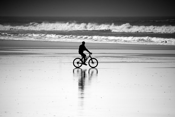 Photographie d'art I Photo d'art I Tableau photo I Oeuvre art I Bike on the beach I Frédéric Ducos I Artiste photographe