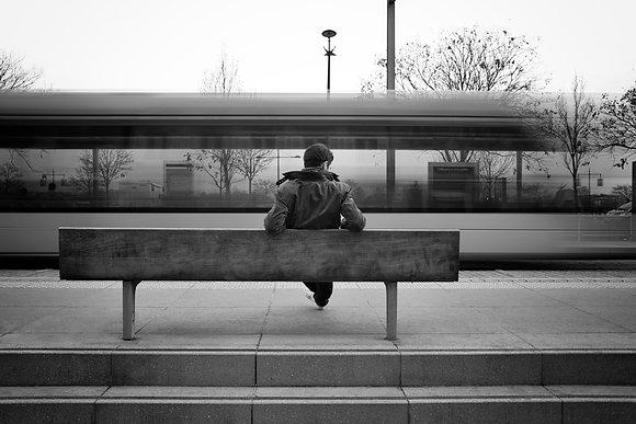 Photographie d'art I Photo d'art I Tirage d'art I Oeuvre d'art I Tramway station I Frédéric Ducos I Artiste photographe I Art