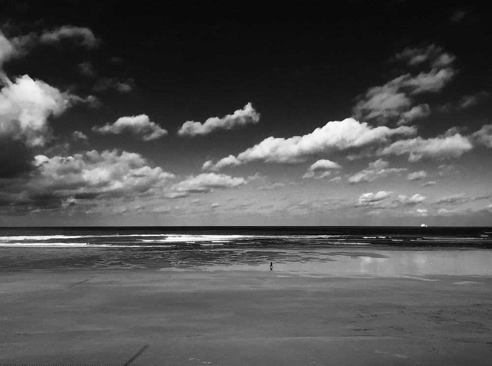 """Photographie d'art de l'artiste photographe Frédéric Ducos """"Plage espagnole en hiver"""""""