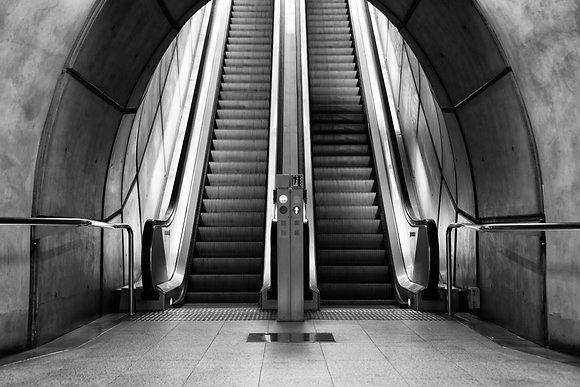 Photographie d'art I Urbain I Art print I Tableau photo personnalisé I Empty subway station I Frédéric Ducos I Artiste photo