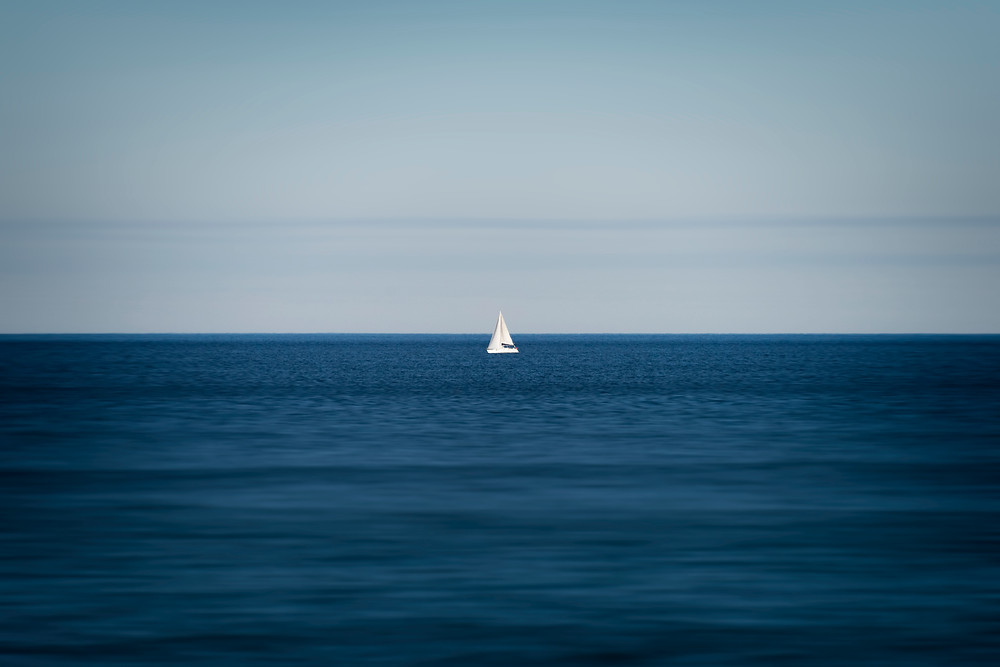 "Photographie d'art ""Sailboat in Spain""."