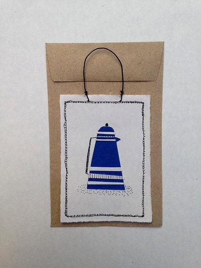 Blue Coffee Pot - Tiny Paper Tile