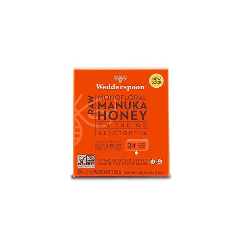 Honey on the go – Raw Monofloral Manuka Honey 16+