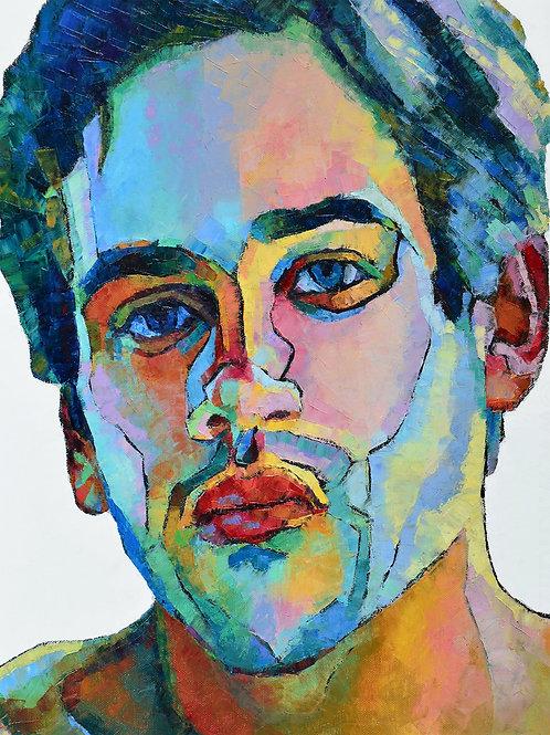 Boy Do I See Colours, Original Artwork (oil on canvas, 65cm x 54cm)