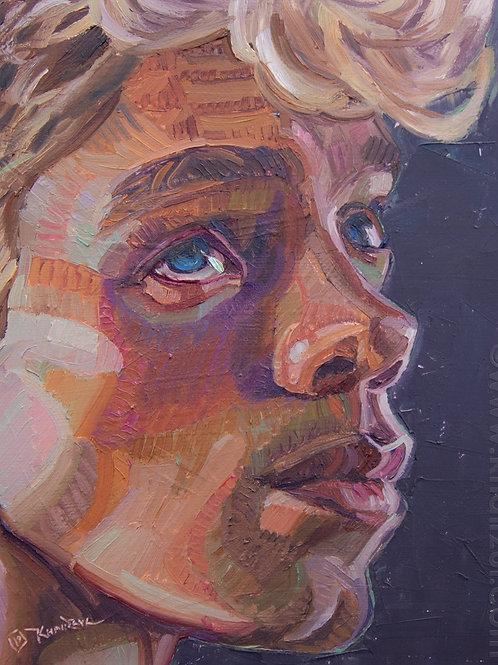 All American, Original Artwork (oil on canvas, 25cm x 20cm)