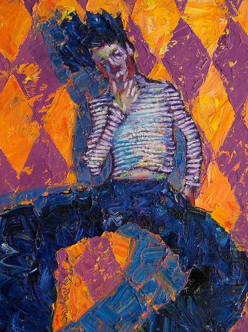 Clown, Original Artwork (oil on canvas, 40cm x 32cm)