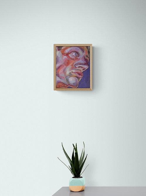 Facial Contour, Original Artwork (oil on canvas, 27cm x 22cm)