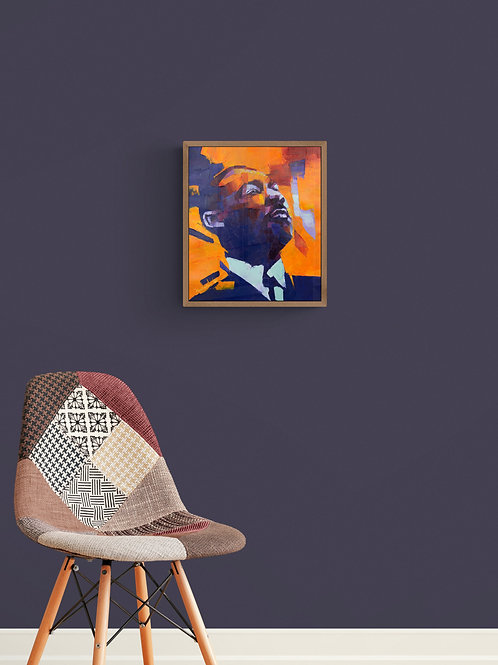 Martin Luther King Jr., Original Artwork (oil on canvas, 35cm x 30cm)