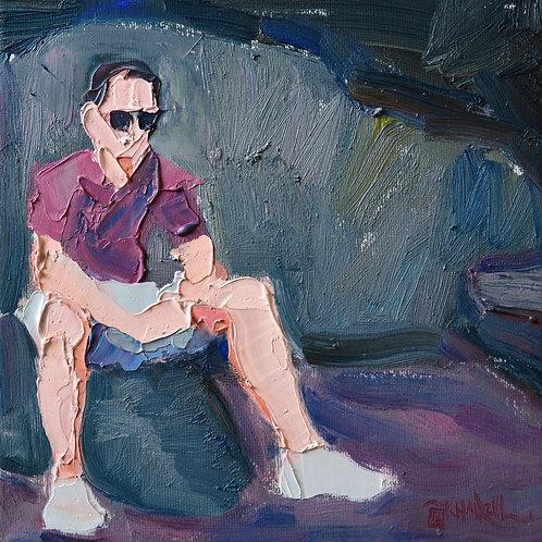 Jimme,  Original Artwork (oil on canvas, 20cm x 20cm)