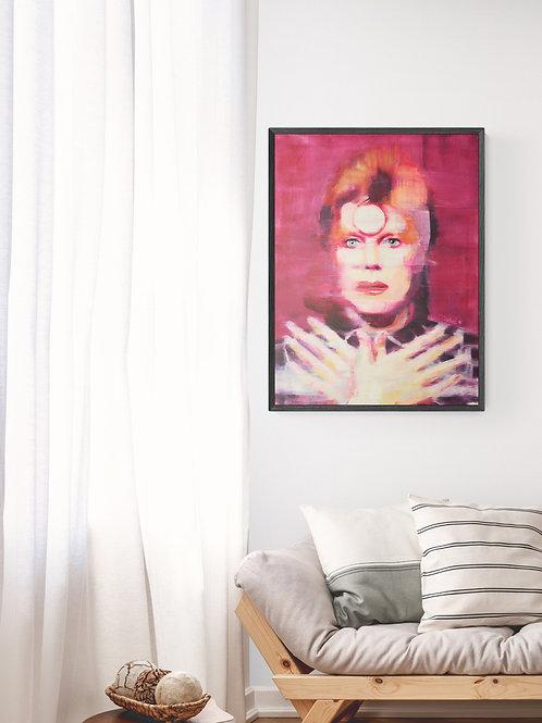 Ziggy Stardust, 2016, Commission Work (oil on canvas, 80cm x 60cm)