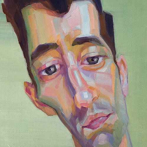 Paolo, Original Artwork (oil on canvas, 30cm x 28cm)