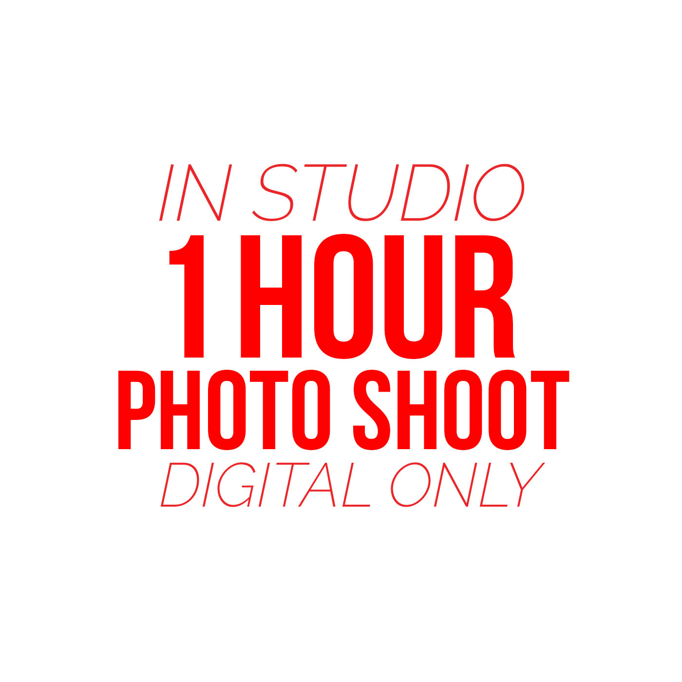 1 Hour Photo Shoot