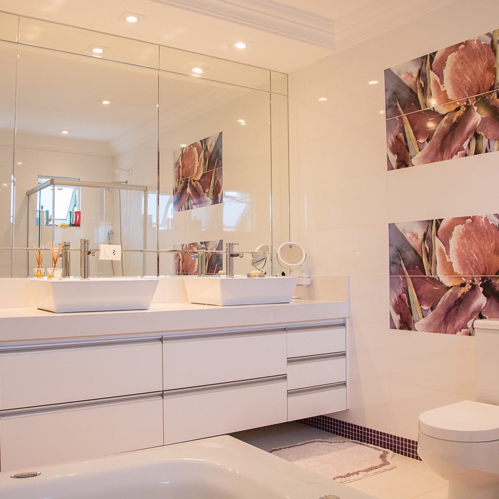 Energy Efficient LED Downlight Bathroom Installation