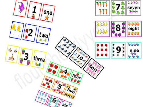 Matching number cards -Printable