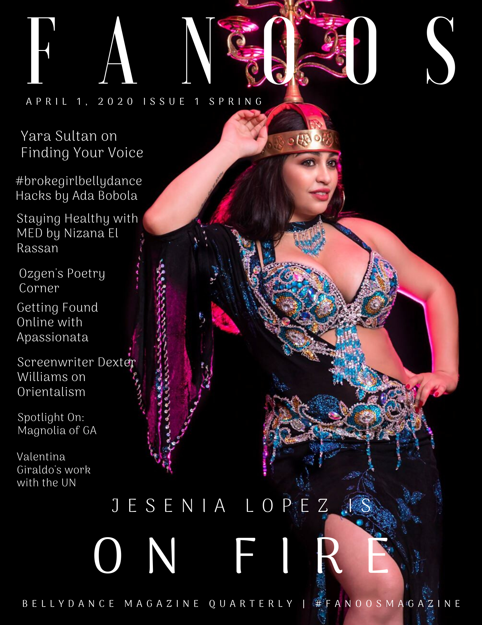 FANOOS Bellydance Magazine April 2020