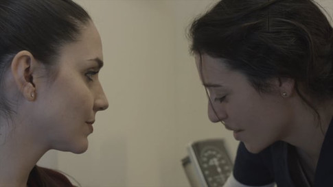 Waiting Room, written and directed by Charles J. Ouda. In this scene actresses Ita Korenzecher and Ana Ribeiro.  The short film has been selected at several Festivals, including NYC Indie Film Awards, Cardiff Film Festival and LA Shorts Awards.