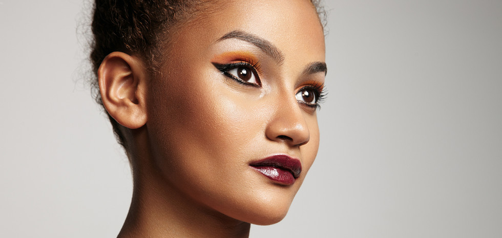 Beautiful Model with Bright Makeup