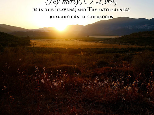 His Faithfulness Reaches To The Clouds
