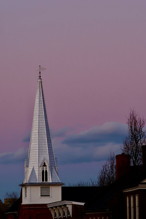 Sunset and Steeple