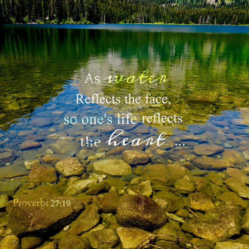 Our Life Reflects Our Heart