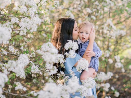 Brooklyn + Rhett   Motherhood Session in the Blossoms