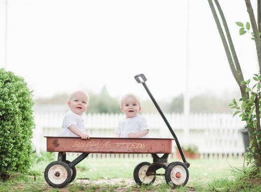 Sam & Luke   Twin Baby Milestone Session