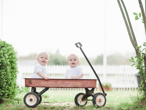 Sam & Luke | Twin Baby Milestone Session