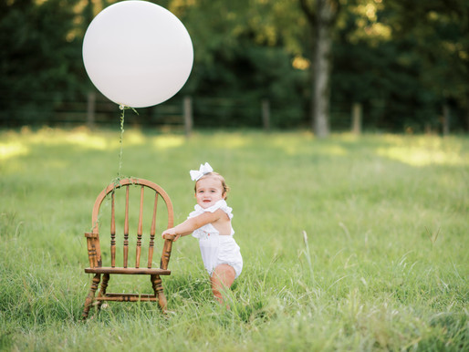 Logan's One Year Session | Outdoor Milestone Session