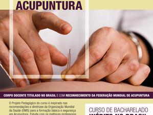 Novo Bacharelado em Ciência da Acupuntura no Rio de Janeiro