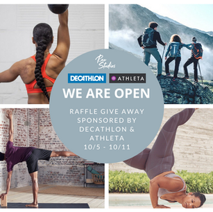 Welcome Back: Raffle Giveaway! Featuring, Athleta & Decathlon