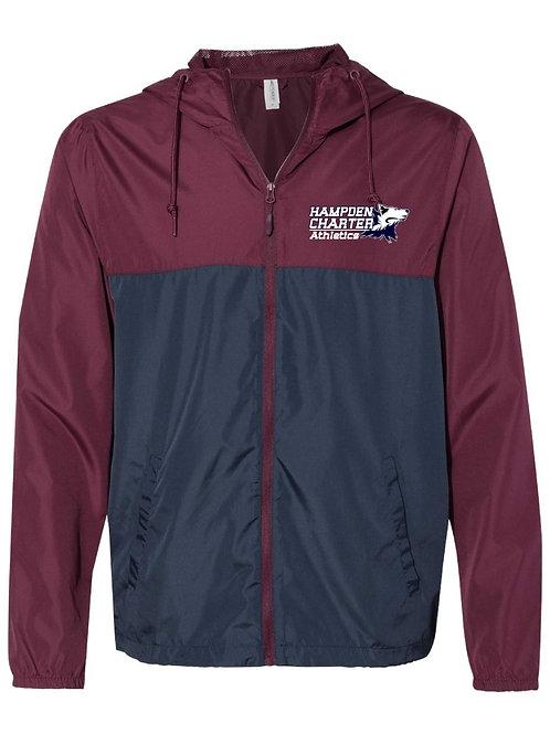 Full Zip Hooded Light Weight Windbreaker Jacket
