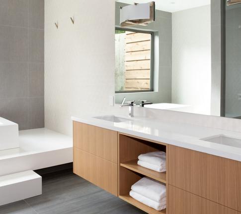 Master Bath with Custom floating vanity