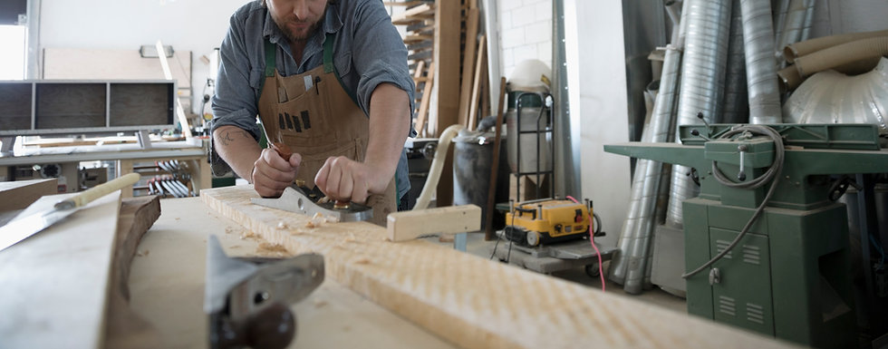 Cabinet Maker Planing Wood