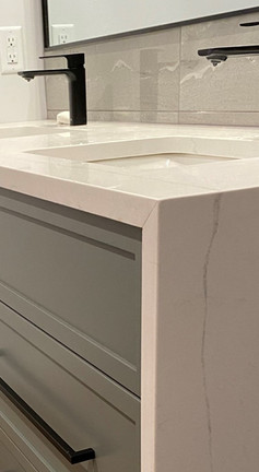 Bathroom Vanity with waterfall granite by William's Joinery