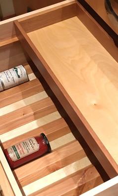 Custom Drawer Organizer with spice organization
