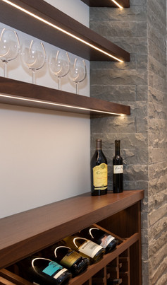 Custom Home Bar and Wine Storage by William Bagnall
