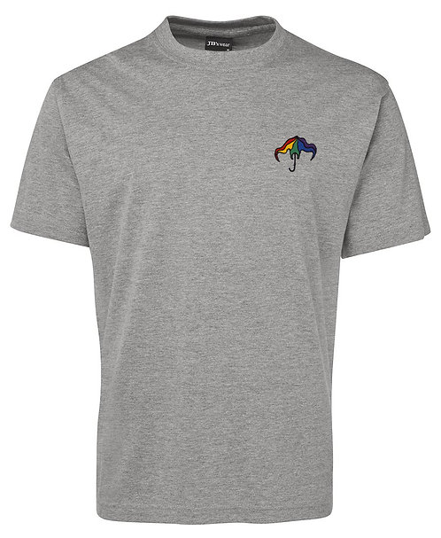 Grey Embroided Mantabrella T-Shirt